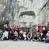 Tour through Lucerne City with B.H.M.S. Students