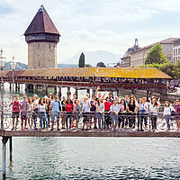 Lucerne City tour - B.H.M.S. Students