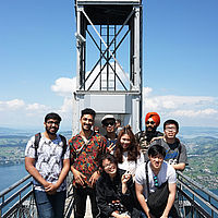 B.H.M.S. students - visit Swiss sights